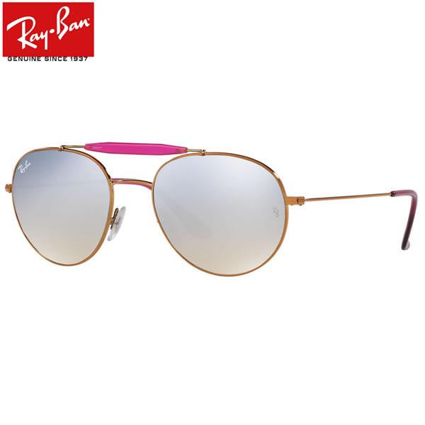 レイバン サングラス ミラー Ray-Ban RB3540 198/9U 56サイズ レイバン RAYBAN 1989U OUTDOORSMAN アウトドアーズマン ツーブリッジ ダブルブリッジ ROUND ラウンド ボストン 丸メガネ ミラー メンズ レディース