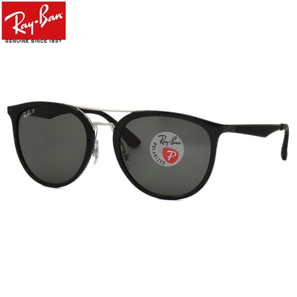 Ray-Ban レイバン サングラス RB4285 601/9A 55サイズ フラットメタル ツーブリッジ ラウンド RUBBER ラバー 偏光レンズ レイバン RayBan メンズ レディース
