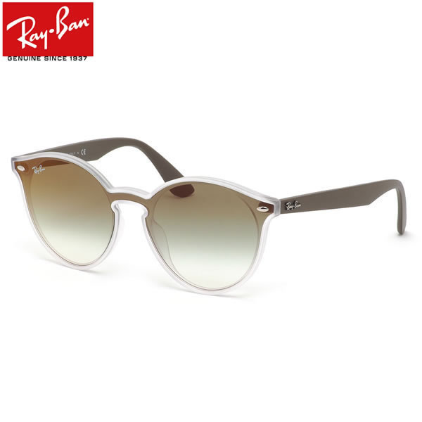 レイバン サングラス Ray-Ban RB4380NF 6358W0 139サイズ HIGHSTREET BLAZE ハイストリート ブレイズ レディースモデル RayBan 1枚レンズ フルフィット グリーン