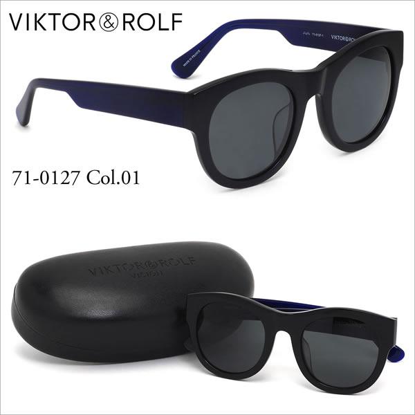 ヴィクター&ロルフ VIKTOR & ROLF サングラス 71-0127 01 50サイズ ラウンド レトロ モダン バイカラー ラグジュアリー クラシック ヴィクター&ロルフ VIKTOR&ROLF メンズ レディース