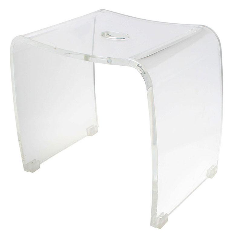バスグッズ【アクア】バスチェアー アクリル製風呂椅子透明の風呂いす(風呂いす/風呂イス)バスグッズ【メール便不可】【送料無料】