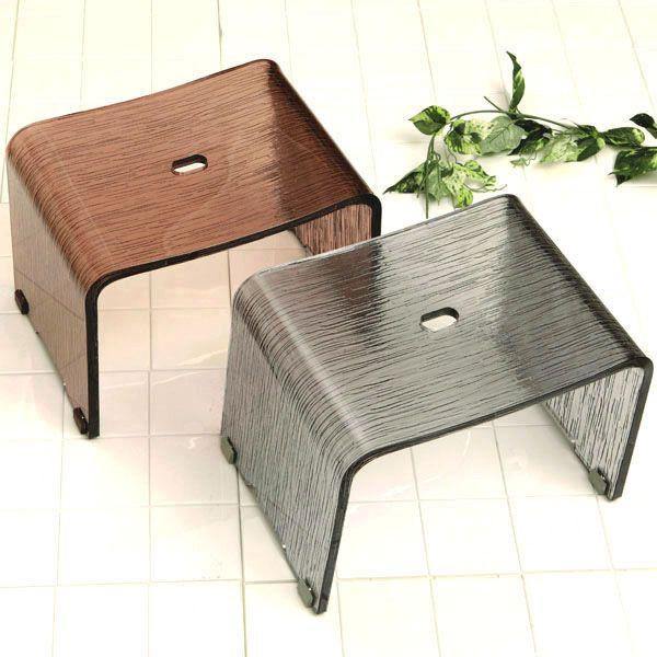 バスチェアー アクリル製風呂椅子 【コルソ】グレー、ブラウン(風呂いす/風呂イス)【メール便不可】【送料無料】