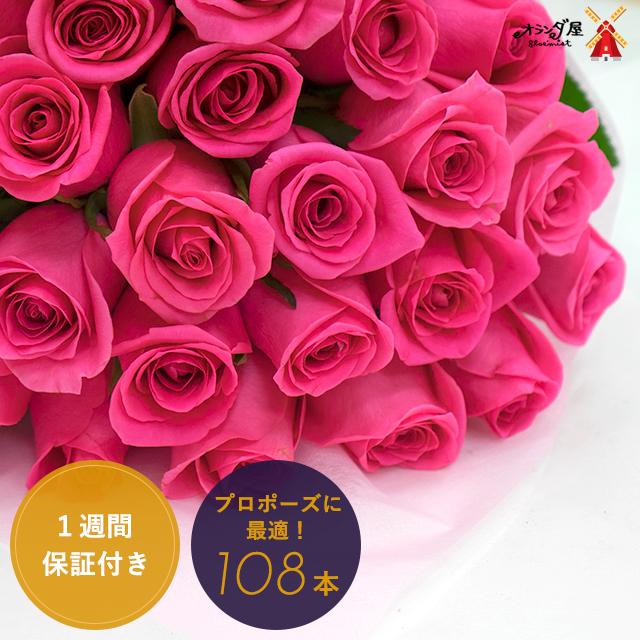 【母の日 対応不可・お届け日17日以降】★プロポーズに★バラ108本の花束