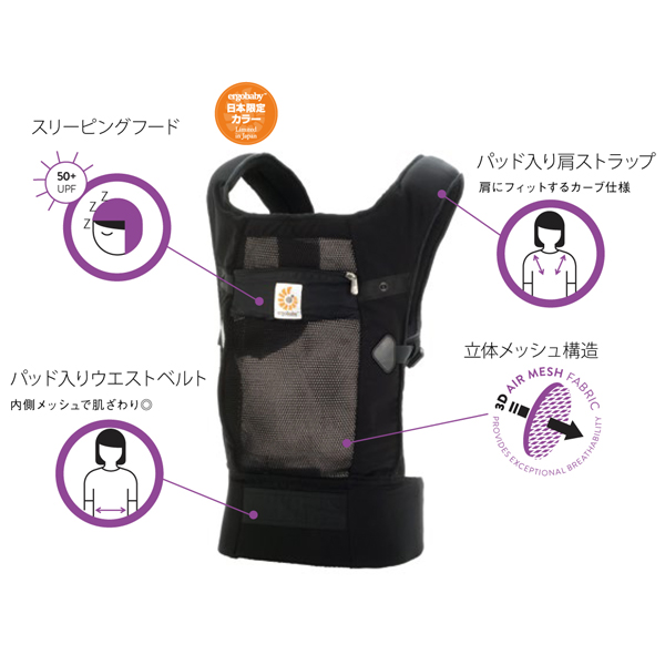51cb572b956 ORANGE-BABY  ( ERGObaby ) ERGO baby carrier performance vents ...