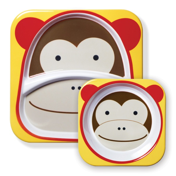 SKIPHOP (跳过跳) 动物盘 & 碗设置猴子