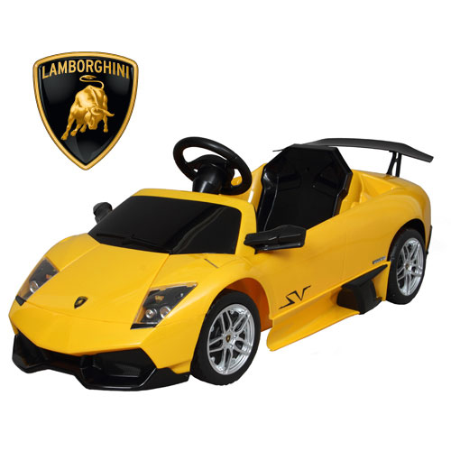 Orange Baby A Kids Electric Battery Car Lamborghini Murcielago