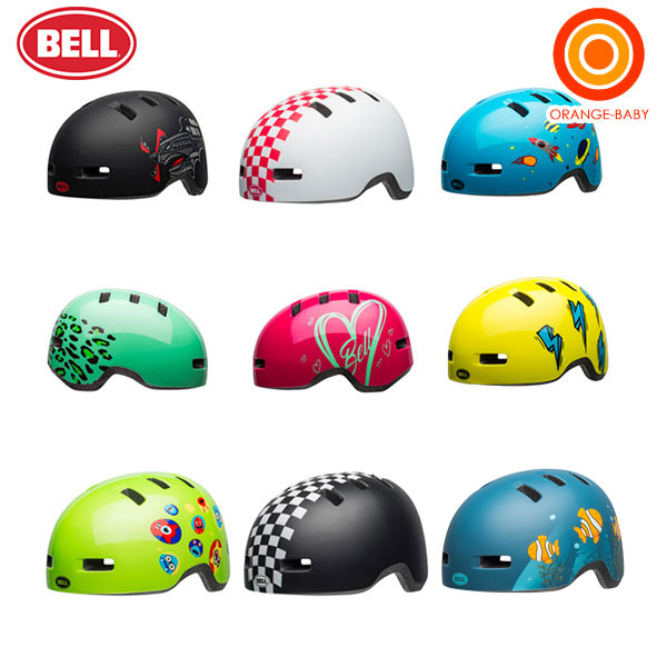 BELL(ベル) LIL RIPPER UCサイズ (リルリッパー) 自転車 ヘルメット【送料無料 沖縄・一部地域を除く】|オレンジ BABY