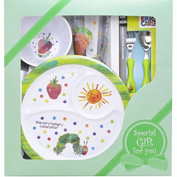 Papagino very hungry caterpillar tableware gift 4-piece set  sc 1 st  Rakuten : hungry caterpillar plate set - pezcame.com