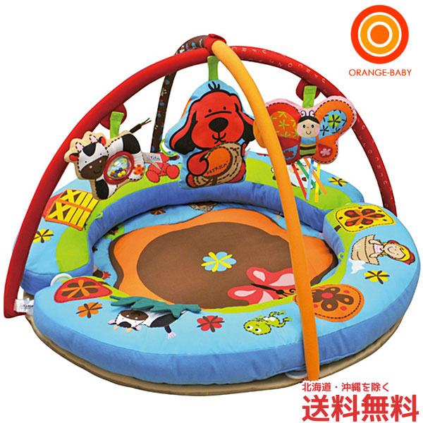 Orange Baby These Kids Love Circle 4 Way Play Mat