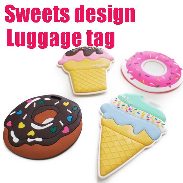 【ネコポスは】スイーツデザイン トラベルネームタグ ラゲージタグ ラゲッジタグ海外旅行、スーツケース、旅行バッグ、ゴルフバッグなどに最適