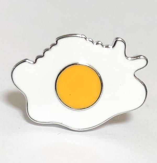 【ネコポスは】目玉焼きデザイン カフスボタン
