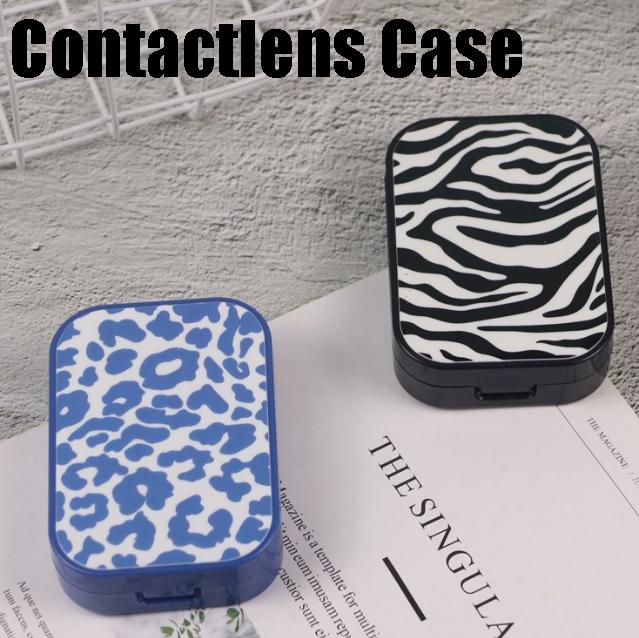 ゼブラとヒョウ柄から選べるコンタクトケース、カラコンケース コンタクトレンズケースセット ネコポスは送料無料