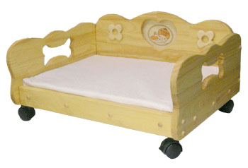犬用品★ワンちゃんのキャスター付きベッド★OrangeCafeオリジナルプリティ☆オレンジベッド