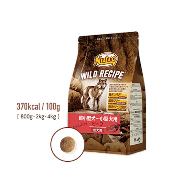 グレインフリー 厳選自然素材で仕上げたドッグフード 開店祝い wildrecipe ニュートロ 1個までレターパックプラスでお届けK ビーフ800g ワイルドレシピ超小型犬~小型犬用 人気ブランド多数対象 食いつき抜群
