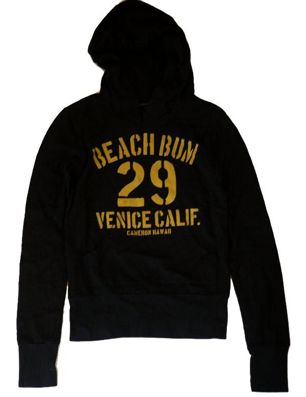 キャメロンハワイ(Cameron Hawaii)Beach Bum スウェットパーカー/ブラック/レディースジャージ【正規品】【あす楽対応_関東】02P28Sep16【あす楽_土曜営業】