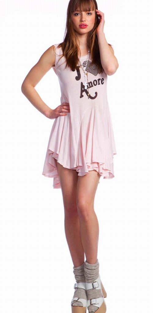 69d2bd0bbe9d Wildfox ) wildfox J ' ADORE AMORE dress (dress poolside) and pink ...