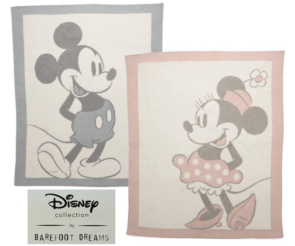 ベアフットドリームス×ディズニーコラボ ミッキーマウス、ミニーマウス ベビーブランケット/Barefoot Dreams/ピンク&ブルー/DNBCC1026/DNBCC1027【あす楽対応_関東】【Disneyzone】