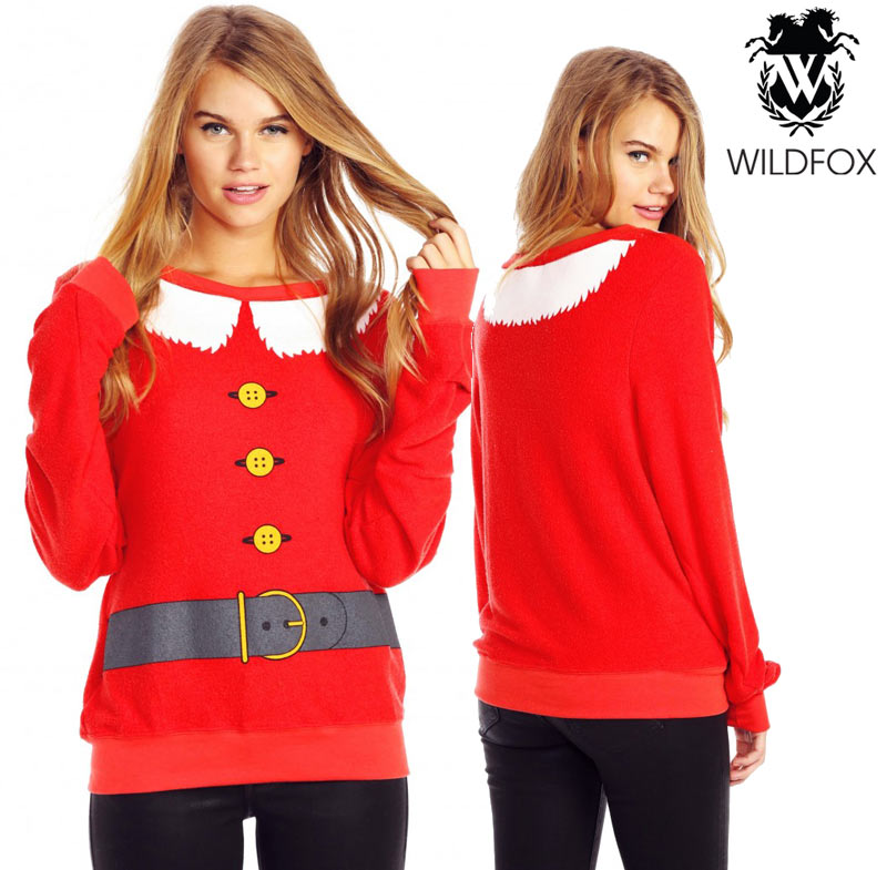 Wildfox Christmas.Wildfox Santa And Elf Baggy Beach Jumper Wvv613z06 Christmas
