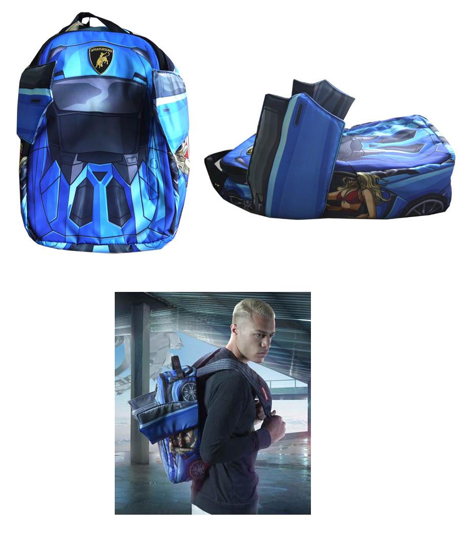 Sprayground BLUE LAMBO Backpack 03P01Mar15