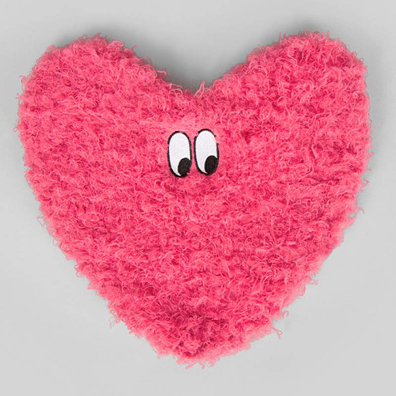 Lazy Oaf Fluffy Heart Clutch Bag P27Mar15