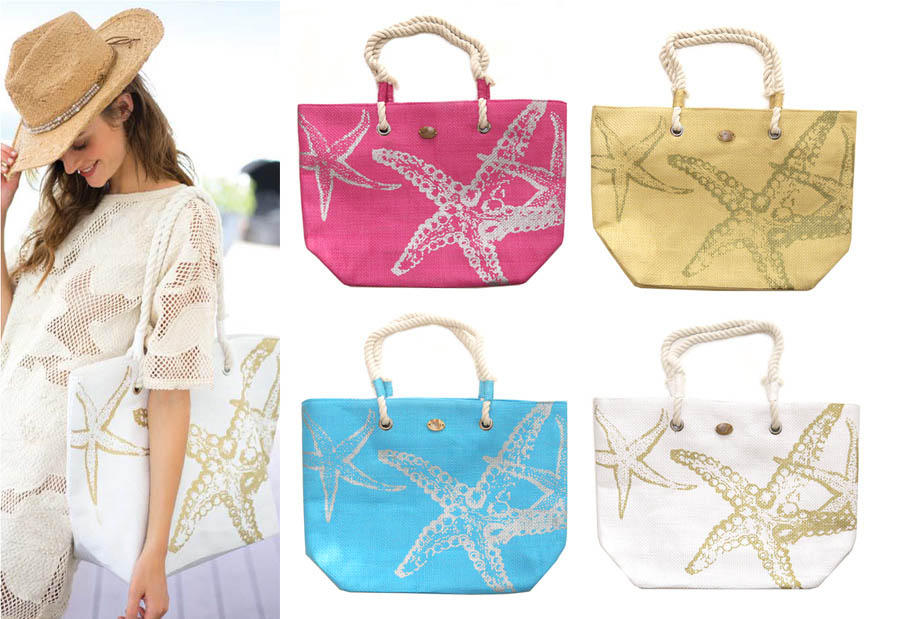 Cappelli Straworld BAG1021 STARFISH BEACH TOTE