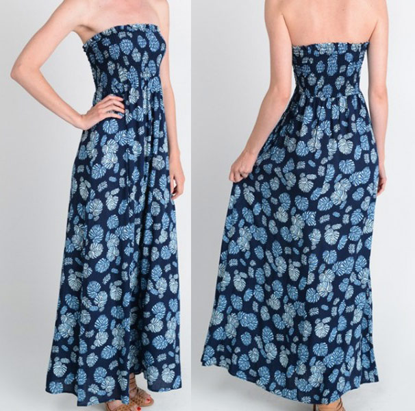 Lino maxi dress