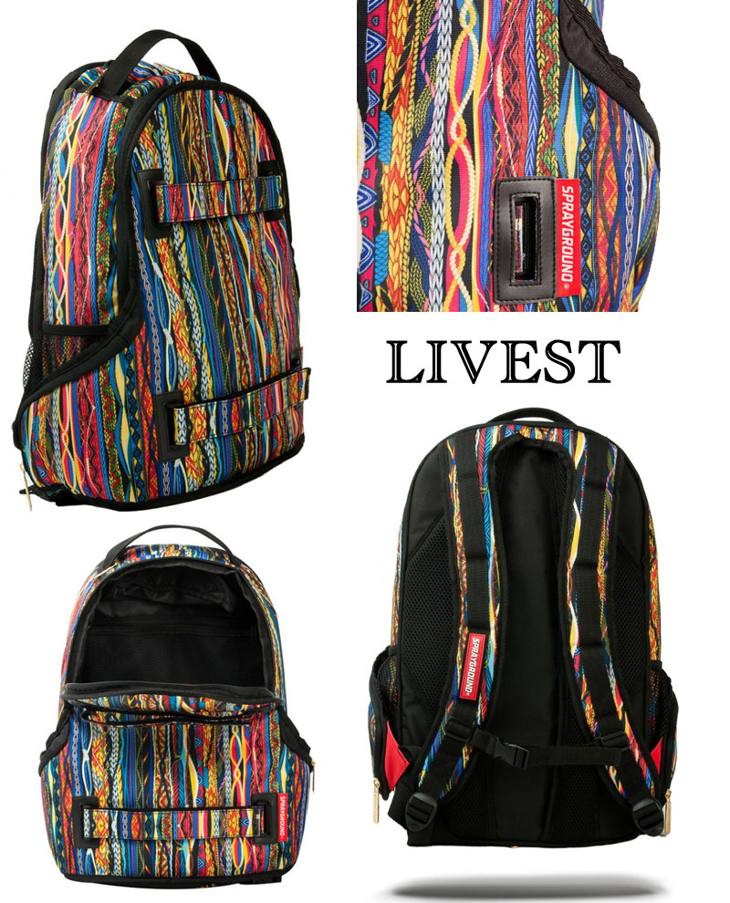 Sprayground SKATE Backpack /LIVEST SKATE/FIRE MONEY SKATE/PHEONIX SKATE/STEALTH BLACK SPYTHON SKATE/RASTA MONEY SKATE