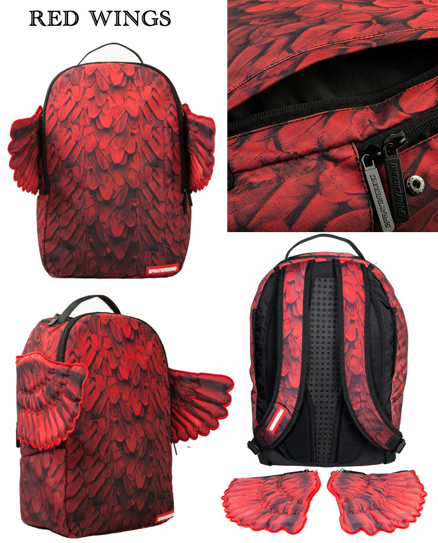 Sprayground WINGS Backpack /TRIBAL/RED/LEOPARD DRIP/ORIGAMI MONEY