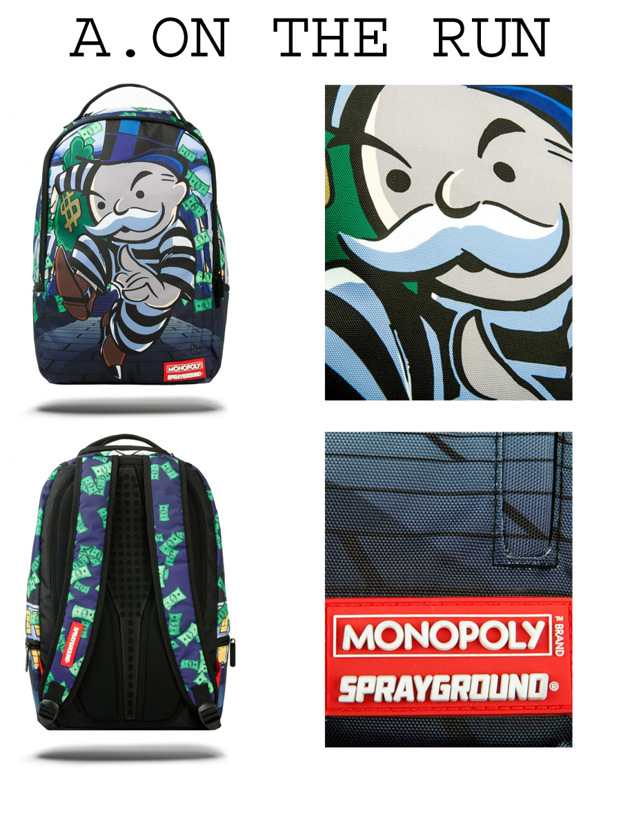 Sprayground MONOPOLY ON THE RUN / MONOPOLY PAINT DRIPS