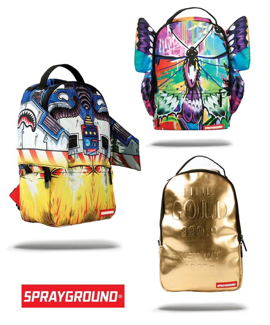 Sprayground MINI GOLD BRICK/JET PACK/BUTTERFLY WINGS