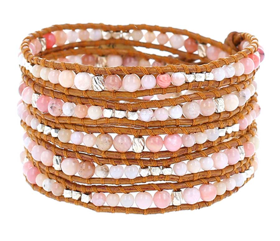 products opal calming il bracelet quartz natural stone healing pink gemstones stretch fullxfull