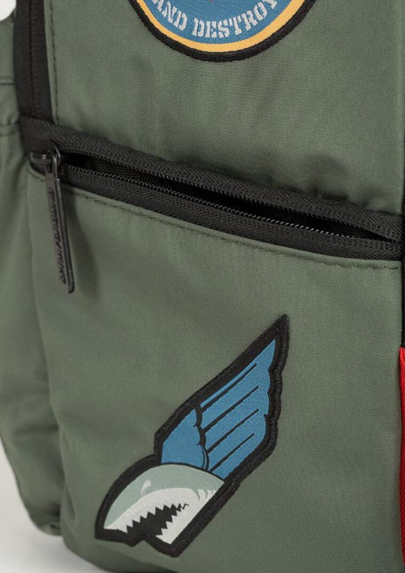 Sprayground GREEN ARMY SHARK PATCHES