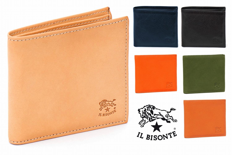 イルビゾンテ(Il Bisonte)レザー二つ折り財布/メンズ/Man's Bi-Fold Wallet in Cowhide Leather C0487【正規品】【あす楽対応_関東】02P28Sep16【あす楽_土曜営業】【送料無料】