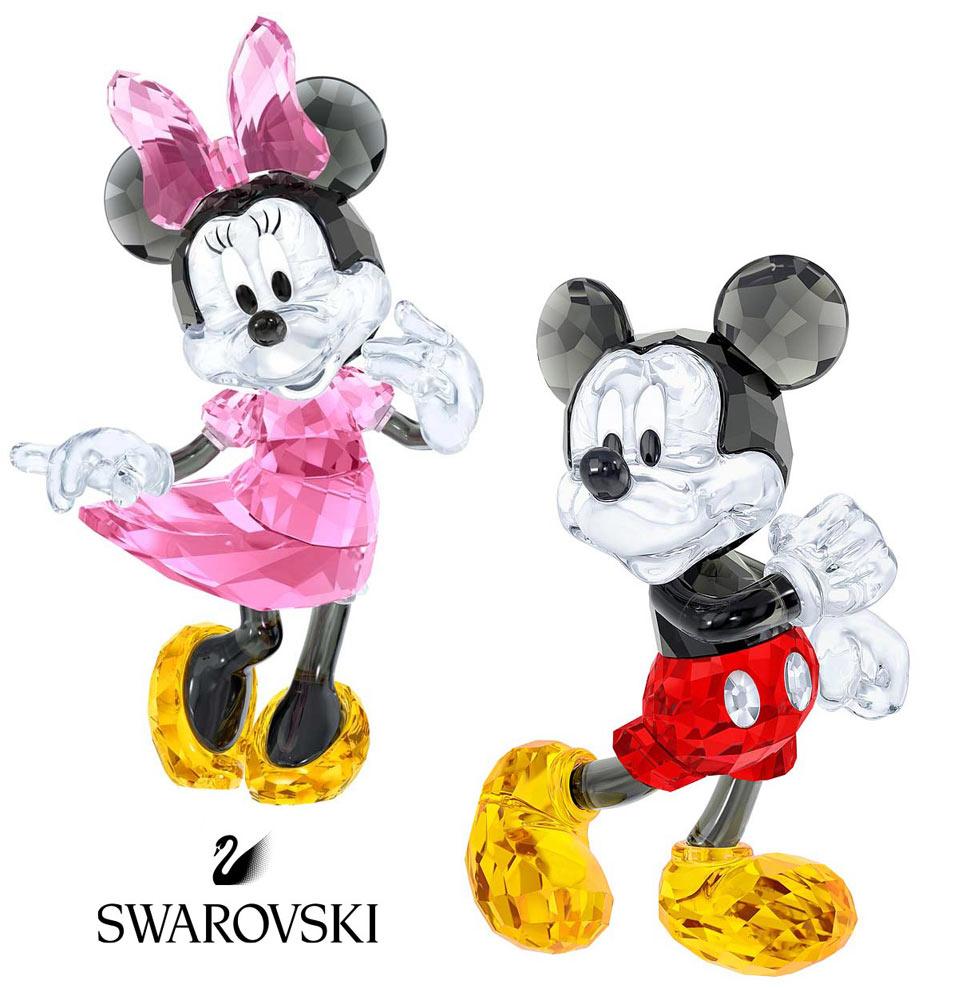 スワロフスキー(SWAROVSKI)ミッキーマウス、ミニーマウスのクリスタルオブジェ/ディズニーコラボ/Mickey Mouse/Minnie Mouse/スワロフスキー社製置物【正規品】【あす楽対応_関東】02P28Sep16【あす楽_土曜営業】【送料無料】【Disneyzone】
