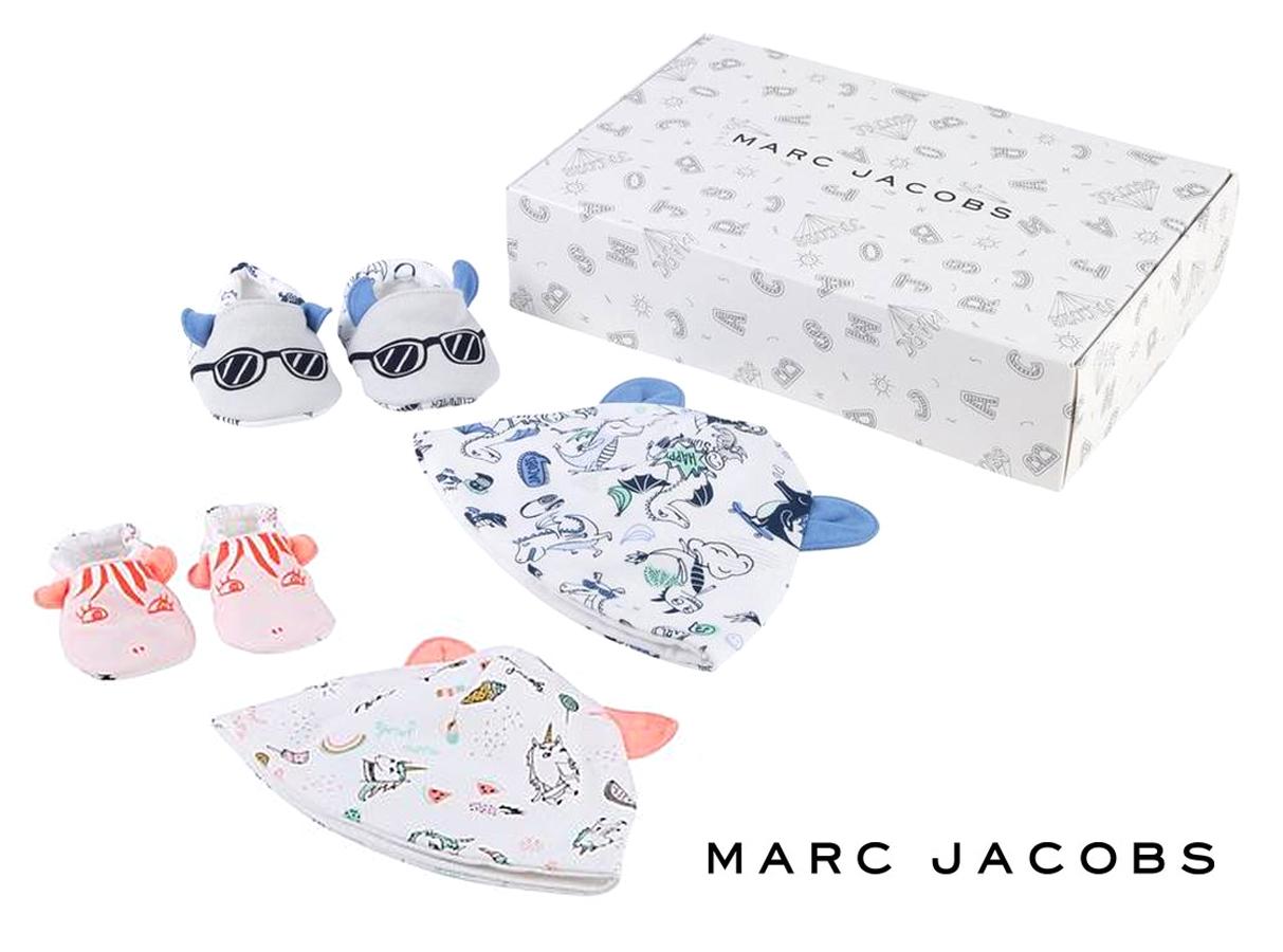 リトルマークジェイコブス(Little Marc Jacobs)ベビー用帽子&靴下ギフトセット/ボックス付き/男児用&女児用/新生児~6か月【正規品】【送料無料】【あす楽対応_関東】02P28Sep16【あす楽_土曜営業】