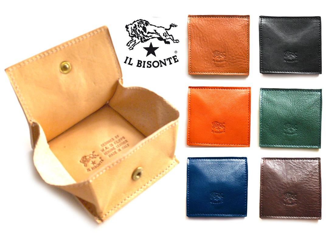 イルビゾンテ(Il Bisonte)レザーコインケース/スクエア型小銭入れ/C0615/2019年新入荷モデル【あす楽対応_関東】