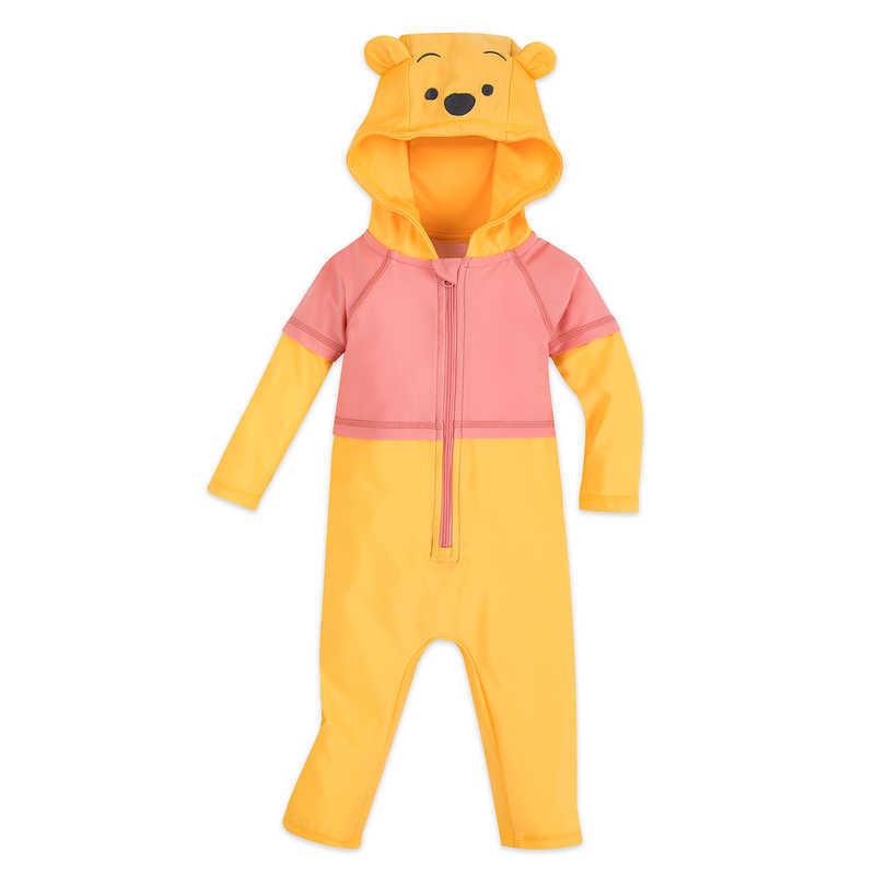 プーさん スイムウェア ロンパースタイプ UPF50+ 水着 子供 キッズ ベビー用 赤ちゃん用 オールインワン 男の子 女の子ネコポス便は送料無料 ディズニー Winnie the Pooh Hooded Wetsuit for Baby