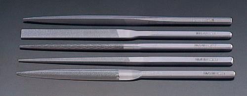 【やすり、砥石、研磨材、ワイヤーブラシ】【精密やすり】 エスコ (ESCO) 215mm 精密やすり(5種・5本組/粗目) EA521VK-215