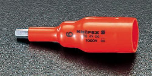 新品未使用正規品 電気工事用道具 絶縁工具 自動車用絶縁工具 エスコ ※アウトレット品 ESCO 3 ビットソケット 絶縁 INHEX 8mm EA640LK-8 8