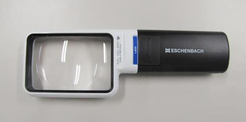 時計用工具、ルーペ、半田ごて、ミニトーチ、ヒートカッター ルーペ スーパーSALE対象商品 一部予約 エスコ ESCO お洒落 x3.5 LEDライト付 EA756C-30 75x50mm ルーペ 角形