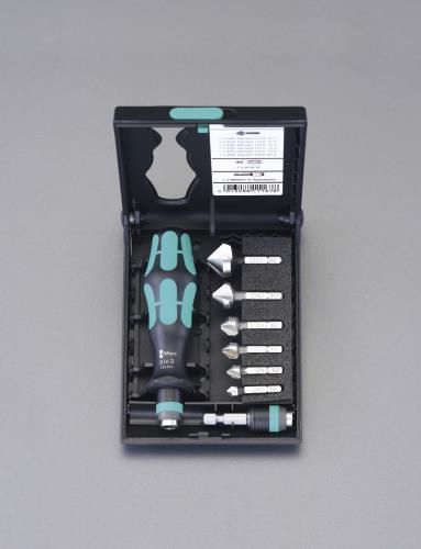 【電動・エアー工具用先端工具】【ドリル】 エスコ (ESCO) 6.3-20.5mm/1/4Hex 6本組カウンターシンク EA827WA