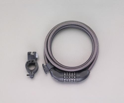 防犯 激安通販ショッピング 防災用品、ミラー 鍵 錠 最新 エスコ 10mmx1.8m ケーブルロック EA983SF-46 ESCO