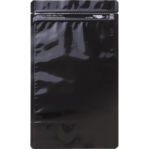 梱包用品 梱包結束用品 ポリ袋 セイニチ ラミジップ アルミカラースタンドタイプ 卓抜 黒 50枚入 35 株 生産日本社 AL1216BK AL-1216BK 上等 160×120