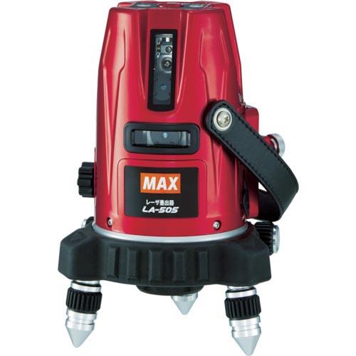 条件付送料無料 測定 計測用品 測量用品 レーザー墨出器 MAX LA-505-D セット レーザ墨出器受光器セット 買収 株 LA505D 新色追加 マックス