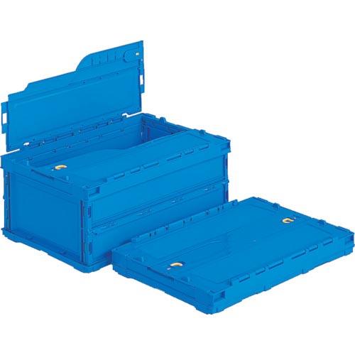 条件付送料無料 物流 NEW ARRIVAL 保管用品 コンテナ パレット 折りたたみコンテナ 5個セット SKSOC40BBL ペタンコC-40Bブルー おすすめ特集 フタ一体型折りたたみコンテナー SKSO-C40B-BL サンコー