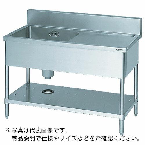 マルゼン 一槽水切付シンク900×450×800左側水切り(ホース付) ( BSMI094L ) (株)マルゼン