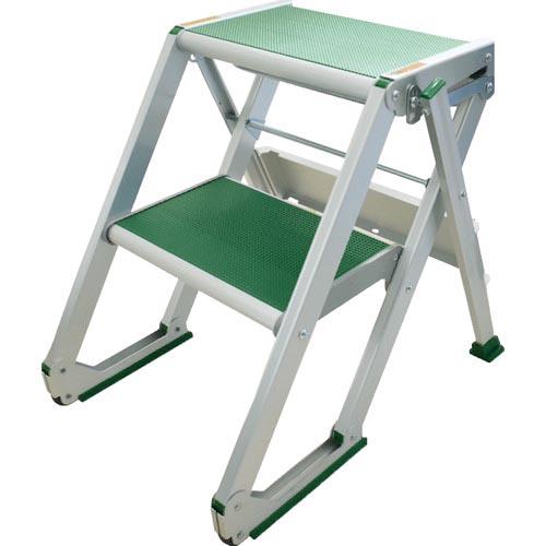 条件付送料無料 工事用品 はしご 毎日続々入荷 送料無料激安祭 脚立 仮設階段 X402 株 MTステップX型2段 MT 森山鉄工
