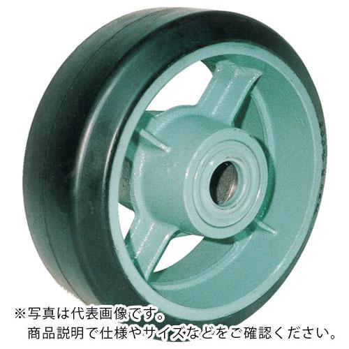 (株)ヨドノ 【メーカー取寄】 鋳物重荷重用ゴム車輪ベアリング入 ) ヨドノ HB500X150 HB500X150 (