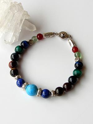 Pass prayer victory power stone bracelet