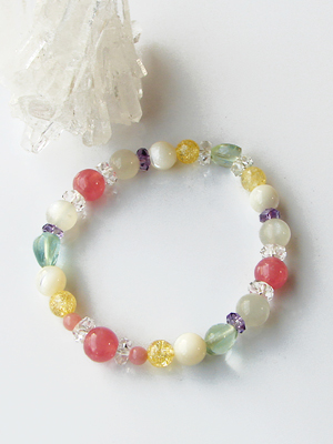 """Special thanks price: love and marriage guide mix stone bracelet"